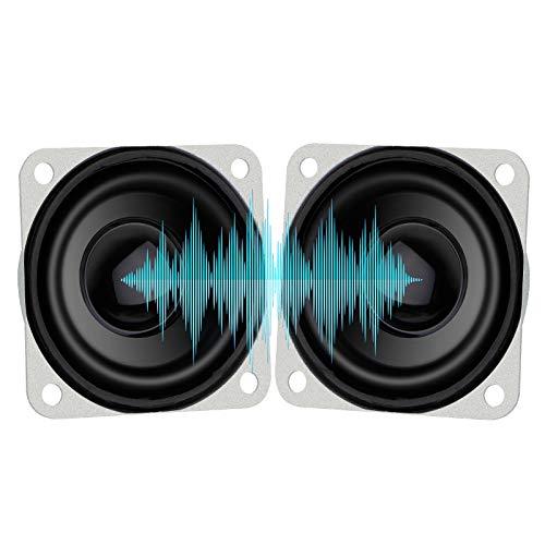 1.5' 8 Ohm Speaker 3 Watt Speaker Full Range Audio Speaker 8Ohm 3W 40mm Stereo Woofer Loudspeaker for Arduino DIY Desktop Speaker 2pcs