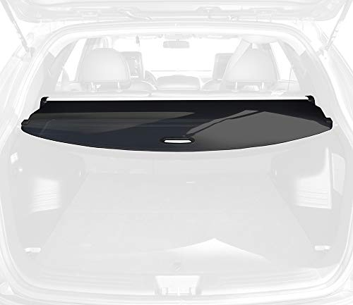 Tyger Auto Black Retractable SUV Rear Trunk Cargo Cover Shield Compatible with 2010-2015 Hyundai Tucson (Luggage in SUV Rear Cargo Trunk Anti-Theft Visor Shield Security Shade & UV Protection!)