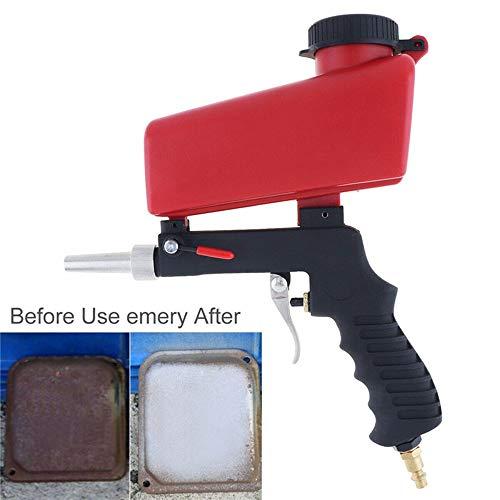 Sale!! LWQ Portable Gravity Sandblasting Gun, Pneumatic Sandblasting Set Small Sand Blasting Machine...