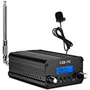 FM Transmitter for Church Parking Lot, APROTII 7W/1W MP3 Broadcast Radio Station Fcc Certified, FM Transmitter 1 Mile Long Range,76~108MHz FM Broadcast Transmitter with Mic for Drive in Movie