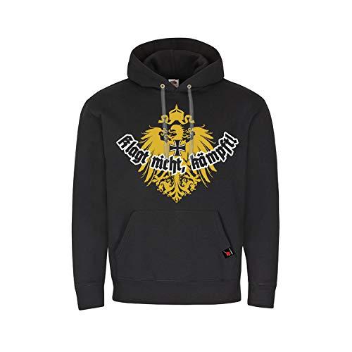 Sudadera con Capucha ¡No te quejes, Espera! Águila Imperial prusiana Encapuchada Alemania # 15810, Talla:L, Color:Negro