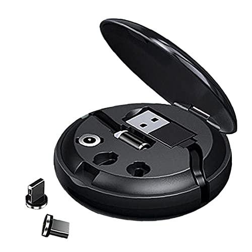 Cable retráctil 3in1 Cargador Tipo de datos Cable de cargador C Cable de extensión de carga rápida para teléfonos inteligentes IOS Dispositivos Negro Comunicación electrónica