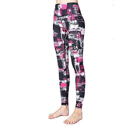Workout Yoga Pants Gedruckte Yogahosen für Frauen Enganliegende, hochelastische Dance Fitness-Hosen für Frauen Mädchen Teen (Color : D, Size : M)