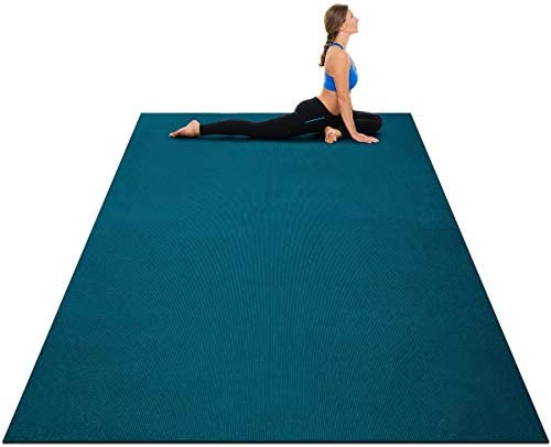 Goplus Large Yoga Mat 7 x 5 x 8mm and 6 x 4 x 8mm with Straps Eco Friendly Extra Thick Non Slip product image