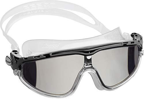 Cressi Skylight Gafas de Natación Anti-vaho, Unisex Adulto, Transparente/Negro/Gris Lentes Espejo, Talla única