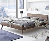 Hasena Fine Line Bett Ancona Nussbaum massiv 180x200