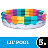 BigMouth Inc Inflatable Rainbow Kiddie Pool, Durable Plastic Baby Pool, Summer Fun Swim Pool for Kids