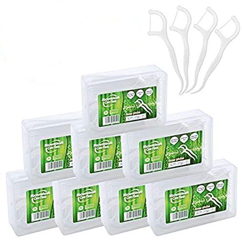 240 Pcs Filo Interdentale in UHMWPE con Scatola di Conservazione Igienico e Portatile Cura Dentistica per Tutta Famiglia