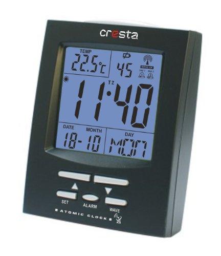 Cresta RC-200BL wekker met binnenthermometer, zwart