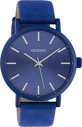 Oozoo Damenuhr mit Lederband 42 MM Colours of Oozoo Unicolor Blau C10452