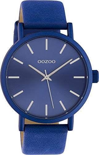 Oozoo Damenuhr mit Lederband 42 MM Colours of Oozoo Unicolor Blau C10452