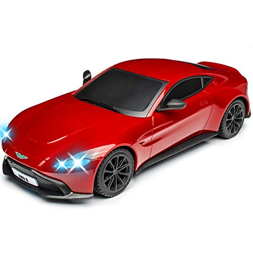 Siva Aston Martin Vantage V8 Coupe Rot Ab 2017 2,4 GHz RC Funkauto mit Beleuchtung und Akkupack 1/14 Modell Auto