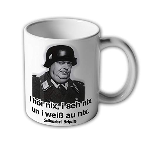 Tasse Feldwebel Schultz ein Käfig voller Helden TV Kult Humor Zitat #30577