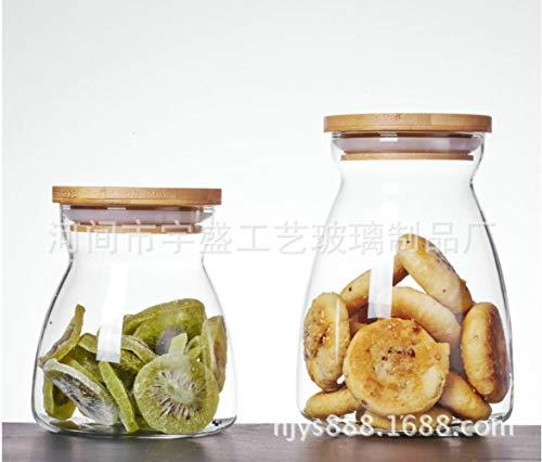 Helder glas, fles gevallen van mousserende wijn-proof energie opgeslagen water opslagtank droogvoer thee,groot