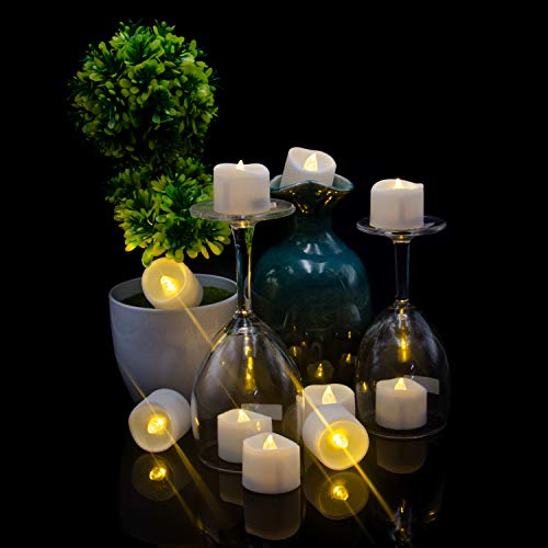 Candele a LED tremolanti, candele elettriche, lumini a LED, a batteria, realistiche fiamme a LED, decorazione per feste e festival (12 pezzi)