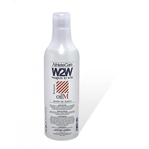 W2W Aceite de Árnica Medicinal para Masaje Deportivo - 500 ml