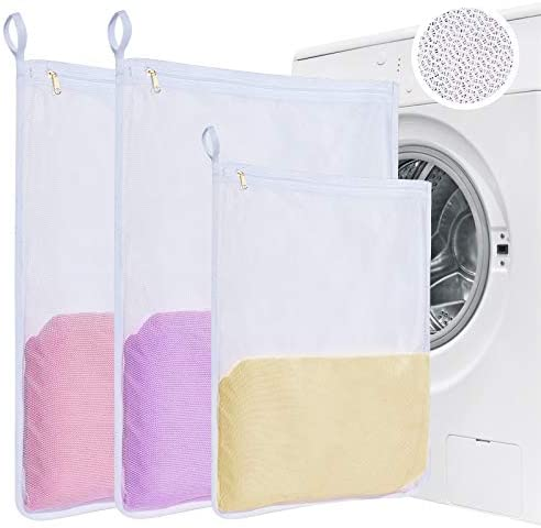 Mesh Laundry Bag for Delicates Washing Upgrade Zipper Net Wash Bag in 3 Pack for Protecting product image