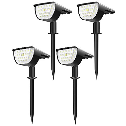 Claoner 32 LED Solar Landscape Spotlights, Wireless...