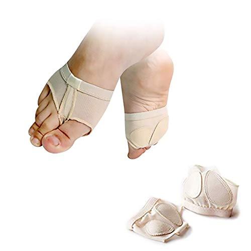 YCYEER Danse du Ventre De Ballet Foot Thong Dance Paw Chaussures Demi-Semelle, Ballerine De Danse Respirante Toe Pad Chaussettes Avant-Pied for Filles Femmes (Color : Skin Tone, Size : XL)