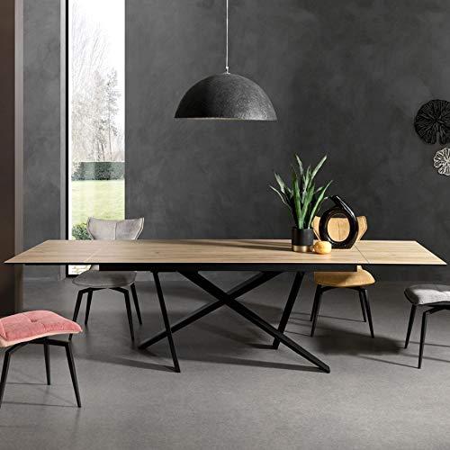 Mesa extensible de cerámica y madera Foray