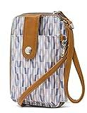 Mundi Jacqui Vegan Leather RFID Womens Crossbody Cell Phone Purse Holder Wallet (Geo Tile)