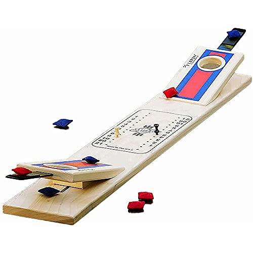 massager Juego de Mesa, clásico Mini Mini Wooden Travel Wood Skill Box Game, Comformate Portable Juego para niños y Adultos
