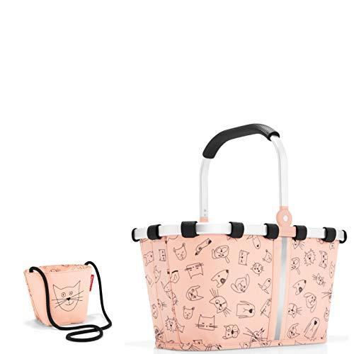 reisenthel Kinder Einkaufskorb/carrybag XS und kleine Tasche (minibag Cat´s & Dog´s Rose)