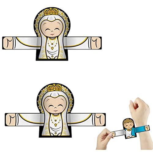 JUSM Hugging Angel Slap Bracelets Slap Bands Clap Hand Ring,Slap Bracelet Guardian Angel Hugging Series,Bands Toys Cute Cartoon Angel Slap Wrap Bracelets (A-2 pcs)
