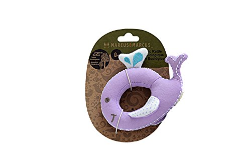 Buy Bargain MARCUS&MARCUS Cotton Baby Rattle with Squeaky Sound | 100% Certified Organic Infant Sens...