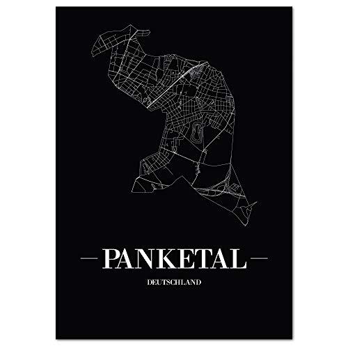 JUNIWORDS Stadtposter, Panketal, Wähle eine Größe, 30 x 40 cm, Poster, Schrift A, Schwarz