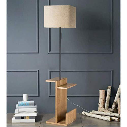 BJLWTQ Lámpara de pie, Interruptor de pie luminarias Cable -Floor Luces for Simple Living Creativo Moderno Mesa de Dormitorio nórdico Vertical Lámparas de pie, Americana Luz para Leer,
