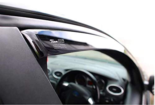 Heko WD11150-9831, Full Set of 4 Heko Wind Deflectors (Front & Rear), Only for the 4 Doors Model, Tinted, Easy to Fit