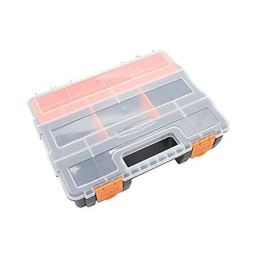 VVU Caja de Almacenamiento de Surtido, componentes de plástico de Dos Capas Caja de Almacenamiento Organizador de Caja para Tornillos Clavos Pernos Arandelas
