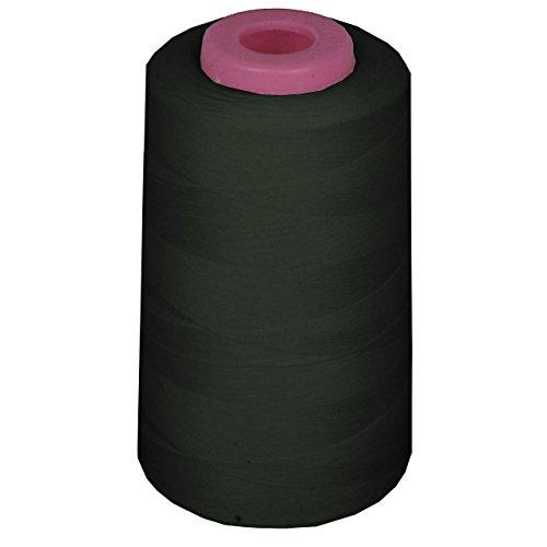 LA Linen 100% Polyester  Cone Serger Thread, Black