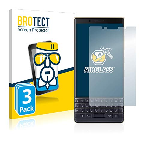 BROTECT Panzerglas Schutzfolie kompatibel mit BlackBerry Key2 LE (3 Stück) - AirGlass, 9H Festigkeit, Anti-Fingerprint, HD-Clear