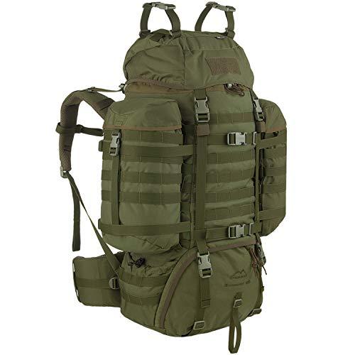 WiSPORT® RACCOON 65 Zaino | 65 litri | Militare | Cordura | MOLLE | Pesca | Escursionismo | Outdoor | Camping, camuffamento:olive green