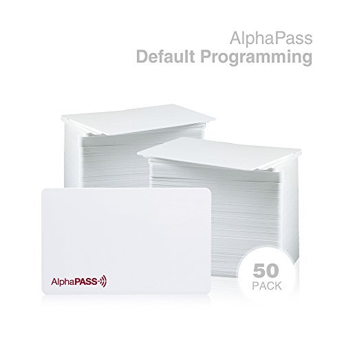 AlphaPass PVC Proximity Card for Access Control. Replaces HID 1386 ISOProx II Card. Standard 26 bit H10301 Format. (50 Pack, Default Programming)