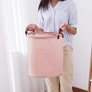 MJY Panier de rangement sale pour panier de linge de salle de bain en lin coton pliant grand 35 fois; panier à linge 40cm ...