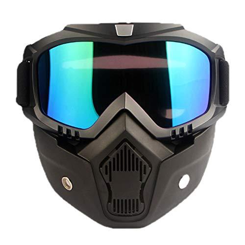 Motocross Helm Harley Transparante Glazen Frame Mask Goggles Gepersonaliseerde Motorcycle Met Off-road Motorcycle Helmet
