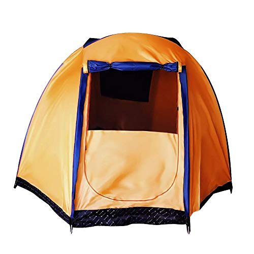 PN-Braes Family Tent Oversized Outdoor 5-6 People Tent Family Tent Waterproof Double Layer Canopy Sunshade Camping Orange Color Pop-Up Tents (Color : Orange, Size : 300 x 300 x 180cm)