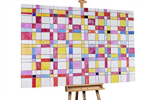 'Puzzle der Vernunft' 180x120cm   Abstrakt Muster Quadrate Bunt XXL   Modernes Kunst Ölbild
