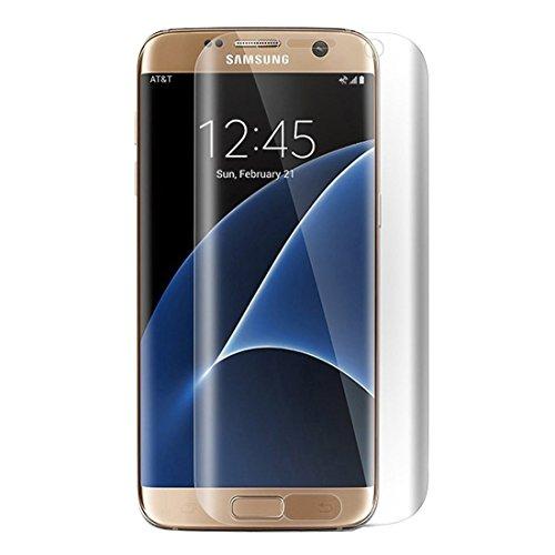 wortek TPU beschermfolie 1 stuk voor Samsung Galaxy S7 Edge - Folie dekt alle front en randen af (voorgebogen en gehard) sets 4 Stück