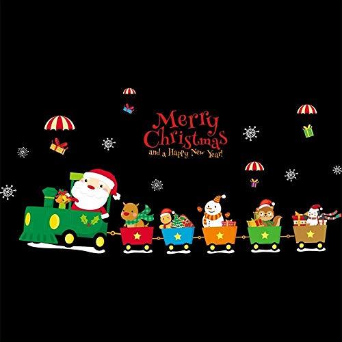 wandaufkleber Santa Schneemann Elch Wandaufkleber Wohnzimmer Fenster Dekoration Aufkleber wandtattoo Weihnachtsge schenk