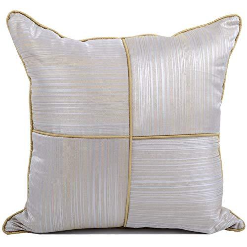 Tylyund Fundas de cojín de almohada decorativa funda de almohada moderna simple geométrica jacquard líneas doradas patchwork primo sofá silla ropa de cama