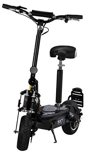 Elektrische scooter SXT500 Eec restyling scooter elektrisch zwart 36 V 12 Ah loodaccu met StVzo