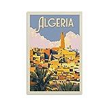 QTYB Algerien Vintage-Reise-Poster, nostalgisches