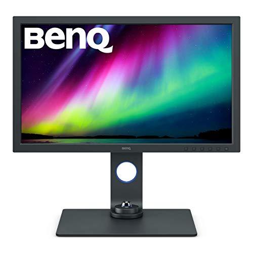 """BenQ SW271C – Monitor para Fotógrafos y edición Vídeo de 27"""", UHD 4K, IPS, AQCOLOR, HDR10/HLG, 99% Adobe RGB, Calibración de Hardware, Gris Oscuro"""
