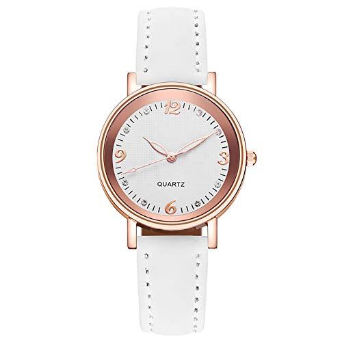 APOKIOG Relojes Mujer Moda Reloj de Pulsera clásico para Mujer Estuche Ultra Fino Minimalista Dial analógico con Fecha Movimiento de Cuarzo japonés