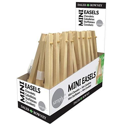 Simply 10 x Kleine Mini-Tisch-Staffelei Visitenkartenhalter aus Holz