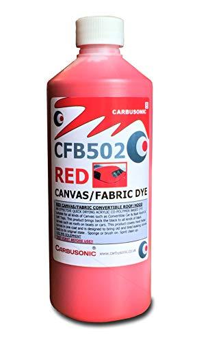 Carbusonic Red Convertible Techo Suave Capucha Recuperador Lona Restaurador de Color a Tejidos